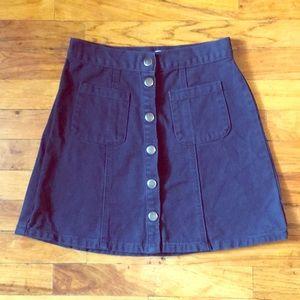 Urban outfitters denim mini skirt